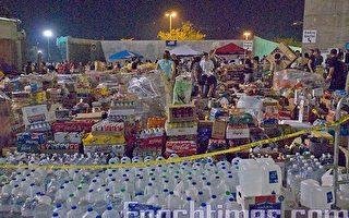 聖市最大體育館開放 逾万難民渡過首夜