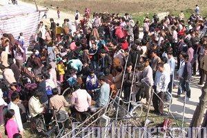 廣東潮州三千村民抗議當局非法徵地