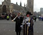 倫敦新年大遊行已成了人們慶祝新年的一個傳統節目。(攝影:羅元/大紀元)