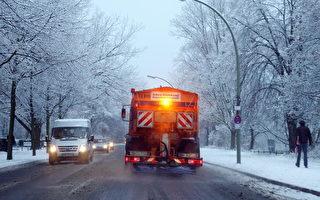柏林路面结冰 数百伤