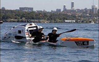獨木舟橫越塔斯曼灣 兩名澳洲探險家創新猷
