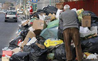 意大利那不勒斯陷入垃圾大戰