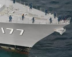 日神盾艦撞漁船 船身折半2漁夫失蹤
