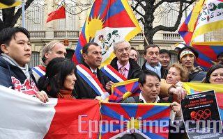八名法國會議員前往中共使館表赴藏之堅意
