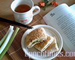 葱花烧饼愈嚼愈香、愈嚼愈有味。(摄影:杨美琴/大纪元)