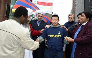楊建利開始800公里「公民徒步行」