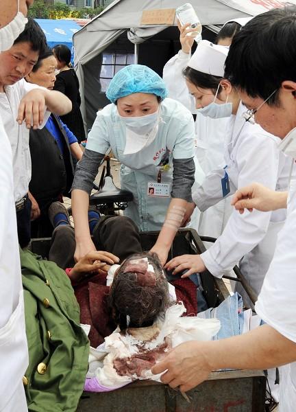 紧急:伤员出现细菌感染症状