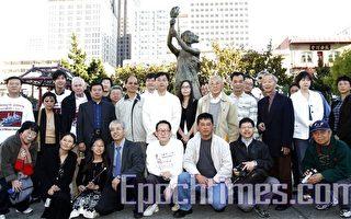 組圖﹕舊金山自由女神像前紀念六四