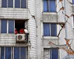四川德陽一損毀的樓房 (China Photos/Getty Images)
