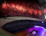8月8日,2008年奧運會在北京召開。不少觀眾對其怪異的色彩很反感。(Getty Images)