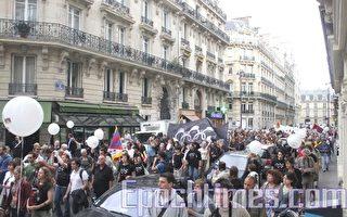 記者無疆界勝訴 巴黎抗議與奧運開幕同步