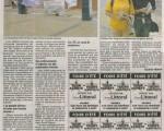 北部海滨报(Nord Littoral)文章《两个中国青年在法国加莱市的4-B商业中心前请愿》