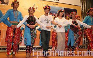 史亞平、吳忠明耍布偶、跳原民舞 為台灣外交加油