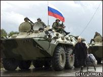 俄格舉行戰後首次會談