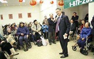 孔厦举行新年敬老会