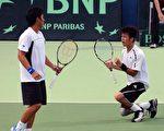 台湾选手易楚寰(Yi Chu-Huan,右),杨宗桦(Yang Tsung-hua) /AFP/Getty Images