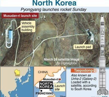 美研究機構公布第一批北韓發射火箭照片