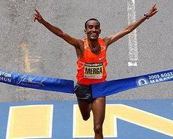 波士頓馬拉松賽  莫爾加科斯蓋男女組摘冠