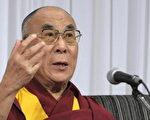 达赖喇嘛14世于22日上午,去美国访问的途中在日本转机时,在千叶县成田市内的酒店举行了记者招待会。(AFP)