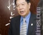 4月26日下午,世界著名刑事鉴定专家李昌钰博士在旧金山湾区Cupertino市王朝餐厅接受大纪元等媒体采访。(摄影:马有志/大纪元)