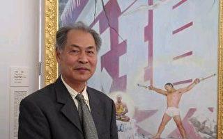 張崑崙:淘金──為全世界華人人物寫實油畫大賽而作