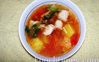 【健康轻食料理】蕃茄凤梨鸡茸汤