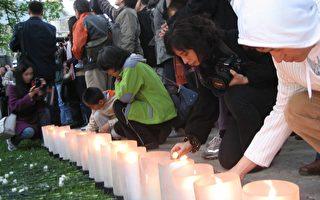 組圖:點點燭光 為六四殉難者點燃