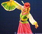 陳嘉琪獨舞的朝鮮舞「歡樂 」。(攝影:楊天儀/大紀元)
