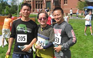 兩台灣留學生參與8公里路跑