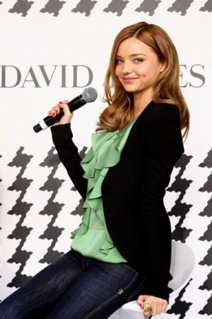 澳洲時尚品牌2010春夏流行趨勢講習班舉行,由超模米蘭達-可兒 (Miranda Kerr)出席擔任講師。(圖/Getty Images)