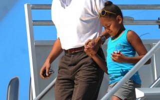 组图:奥巴马全家到大峡谷渡假