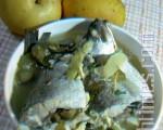清爽低热量的鲈鱼豆腐酱瓜汤(图:梅芬/大纪元)