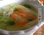 蛋花汤也可煮得轻盈飘飞、温润柔美像琉璃。(摄影:杨美琴/大纪元)