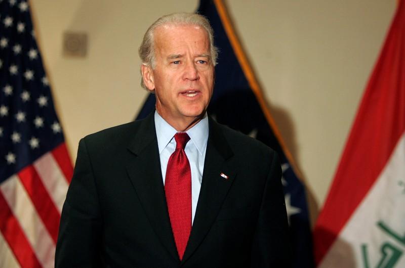 圖為美國前副總統拜登。(AFP PHOTO/SABAH ARAR)