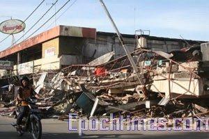 组图:印尼巴东强震灾情现况