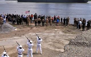 2009年10月13日,美國軍艦「紐約號」在新奧爾良舉行啟航典禮。(U.S. Navy via Getty Images)