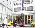 2006年張善良建造的24層希爾頓飯店(Hilton Garden Inn)是亞裔美國人在曼哈頓建的首家高層旅館。(攝影:徐竹思/大紀元)