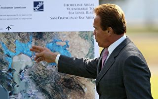 谷歌显示未来气候变化下加州地图