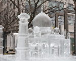 独一无二的冰雕泰姬陵(摄影:孙泰利 / 大纪元)