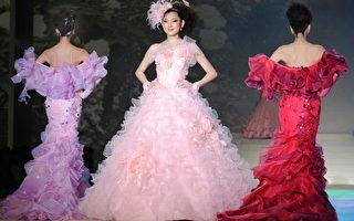 组图:日本著名设计师桂由美婚纱展