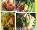 凤梨、花椰菜和乳酪丝正在舌间上跳着华尔滋!(摄影:杨美琴/大纪元)