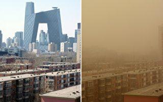 组图:北京再遭沙尘暴侵袭