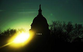 黎明前的美國國會山(AFP)