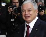 2009年10月30日,波兰总统卡钦斯基抵达比利时布鲁塞尔欧洲议会总部的欧盟峰会会场。(AFP)