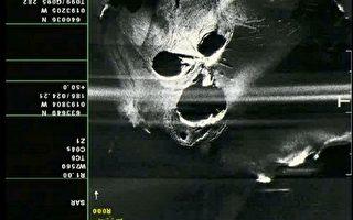 组图:冰岛火山喷发 雷达图犹如怒吼鬼脸