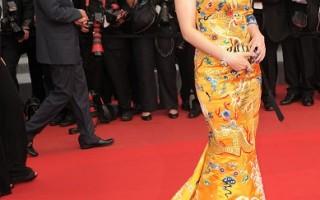 組圖:范冰冰龍裙貴氣亮相  戛納紅毯搞烏龍
