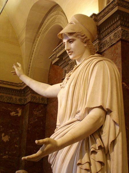 女神雅典娜雕塑,雅典娜被視為雅典的守護神。(公有領域)