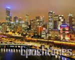 澳洲第二大城市墨爾本市中心遠眺。(攝影:陳明/大紀元)