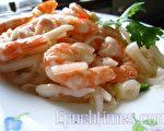 泰式凉拌海鲜,诱发夏日味蕾,让人舍不得停筷。 (摄影:杨美琴/大纪元)