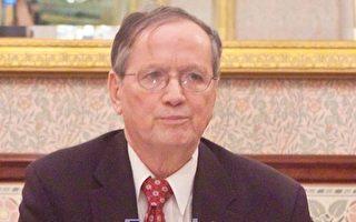 州參議員參選人沙頌與華媒茶敘